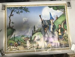 An Unexpected Party The Hobbit 1 David Wenzel Very Rare Original Poster - Jw536