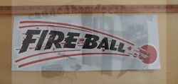 Fire Ball Vintage 60and039s Travel Trailer Camper Reproduction Decal 20x7 / 30x11