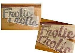 Frolic Vintage Travel Trailer Repro Decal Red/blue 16 Decal Pick Your Set Of 2