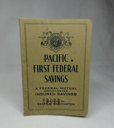 Vintage Bank Account Book Pacific First Federal Savings