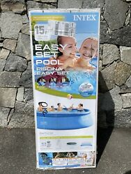 Intex 26167eh 15and039 X 48andrdquo Easy Set Swimming Pool W/ Ladder Pump Cover Ships Now