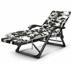 Camping Reclining Chair Sleeping Lounge Sofa Bed Couch Outdoor Garden Armchairs
