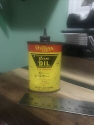 Vintage Outers 445 Gun Cleaning Firearm Oil Can Advertising Hunting Lead Top