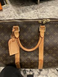 Louis Vuitton Monogram Keepall 55 Duffle Carry-on Travel Bag Authentic