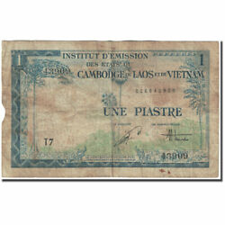 [608200] Banknote French Indo-china 1 Piastre = 1 Dong 1954 Undated 1954