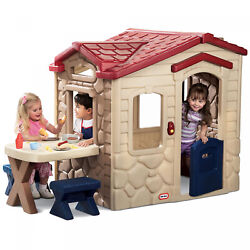Little Tikes Picnic On The Patio Playhouse Includes Play Food Pretend Phone Kids