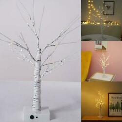Warm White Easter Birch Tree LED Light Up Christmas New Hanging Twig Deco K3T1