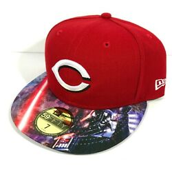 Fitted Size 7 Star Wars Cincinnati Reds Hat Darth Vader New Era 59fifty New 37
