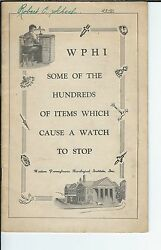 Mg-010 - Booklet Hundreds Of Items Which Can Cause A Watch To Stop 1930s-1950s