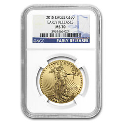 2015 1 Oz Gold American Eagle Ms-70 Ngc Early Releases - Sku 86100