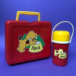 Vintage Eric Hill Spot The Dog Toy Book Themed Lunch Box Storage Case Set 1980s