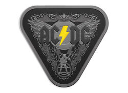 Ac/dc 5 Dollar Silver Nickel Plated Proof Coin 45 Years Of Thunder