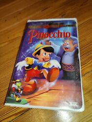 Rare Walt Disneys Pinocchio Vhs 1999 Clam Shell Gold Collection 60th Anniversary