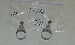 1971 Wittek 1 1/16 Tower Hose Clamps 2 Dated 4/71 Corvette Camaro Ford Mustang