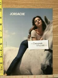 Brittany Murphy 2005 Jordache Jeans Campaign Print Ad White Horse 1 Pg.