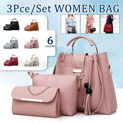 3Pcs Women Shoulder Bag Handbag Purse Tote Girls Messenger Fashion Gift 6 Color $41.23