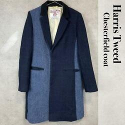 Harris Tweed Beautyandyouth United Arrows Chester Coat Jacket Womenand039s M From Japan