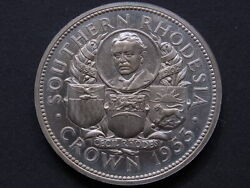 Southern Rhodesia. 1953 Crown.. Ex Museum Of Victoria Duplicates Sale.. Proof