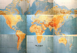 Army Map Service Of World Less Polar Regions Huge 55x40 Each 9 Sheets Rare Set