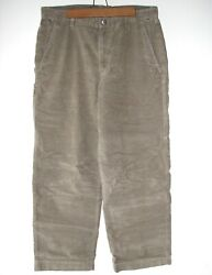 The Menand039s Gray Cotton/poly Corduroy Cord Jeans Pants - Size 34 Short