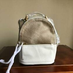 Hobo International Revel Mini Haircalf Leather Convertible Backpack Biscotti NWT $99.99