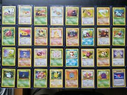 Pokemon 1st Edition Jungle Complete Set 32 Cards Common And Uncommon Nm
