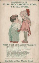Advertising Compliments Of F.w. Woolworth Co's 5 And 10 Store Leo Feist, Inc.