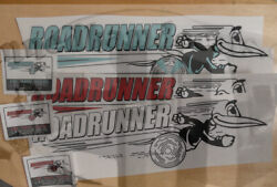 Roadrunner Travel Trailer Decal Red, Turq And White 1960's Vintage Style Set Of 3