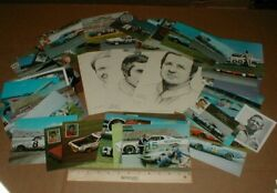 67 Diff Nascar Racing Vtg Old Dodge Ford Chevy Postcard Handout Lot 1968-1970s