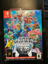 Super Smash Bros Ultimate Limited Edition Steelcase And Controller W/ Coin