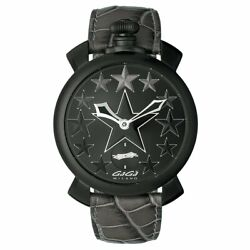 Gagandagrave Milano Manuale 48mm Menand039s Watch Stars Black Pvd