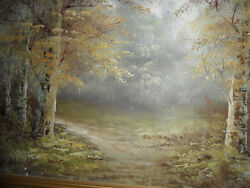 C Inness- Through The Forest Oil On Canvas Signed C Inness