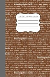 Vocabulary Notebook Word Diary To Build Vocabulary Brown Cover Learn By Wriandhellip
