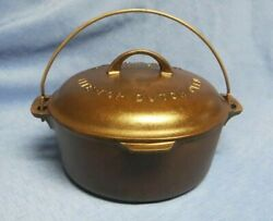Griswold No.8 Cast Iron Dutch Oven With Lid And Trivet Big Block Logo