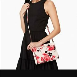 KATE SPADE CAMERON STREET ROSES CLARISE CROSSBODY CLUTCH BAG SO PRETTY $110.00