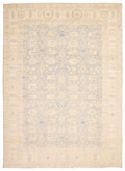 Hand-knotted 18/20 Pak Finest Mamluk Grey Wool Rug 9and03911 X 13and0396