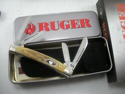 Case Limited Edition Stag Ruger Small Congress Knife Never Used In Box 5468 Ss