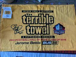 5-pittsburg Steelers Myron Cope Terrible Towel Lot Brand New With Tags Bettis