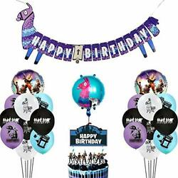 Fortnite Video Game Birthday Party Decorations Supplies - Balloons Banner +