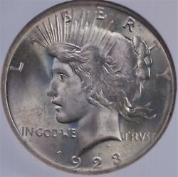 1923 Peace Dollar Ngc Ms 65 Smooth White Satin Gem Lustrous And Well Struck