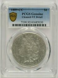 1889-cc Morgan Silver Dollar 1 Pcgs Vf Details Cleaned Key Date 41685030