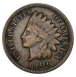 1906 Indian Head Cent Uncertified Coin