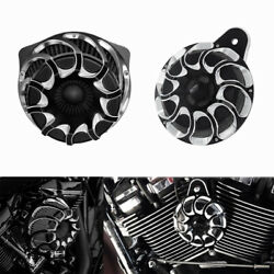 Motorcycle Cnc Horn Speaker Cover W/ Air Cleaner Fit For Harley Touring 2017-21