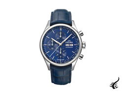 Delma Heritage Chronograph Automatic Watch Blue 43 Mm 41601.728.6.041