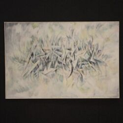 Painting Italian Framework Modern Signed Dated Oil On Canvas Abstract Subject