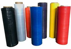 Color Hand Stretch Wrap 18-20 1500and039-2000and039 60-120 Gauge - 200 Rolls