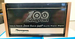 Snap-on New Black Mini Upper Top Tool Box Cabinet Limited 100th Anniversary Logo