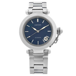 Pasha C 35mm Stainless Steel Blue Dial Automatic Mens Watch W31014m7
