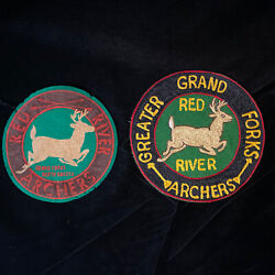 50and039s Patches Red River Archers Embroidered Chain Stitch Felt Archery Bow Hunting