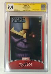 🔥marvel's Thanos 13 Donny Cates Signed Trading Card Variant Cgc 9.4 Near Mint